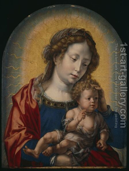 Virgin and Child by Jan (Mabuse) Gossaert - Reproduction Oil Painting