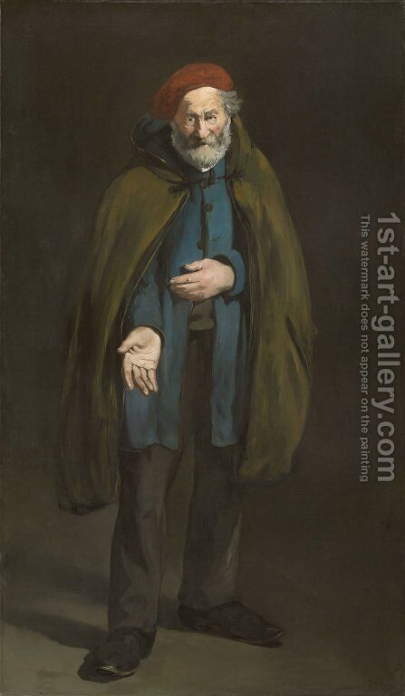 Beggar with a Duffle Coat by Edouard Manet - Reproduction Oil Painting