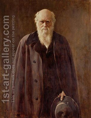 Portrait of Charles Darwin 1809-1882 by (after) Collier, John - Reproduction Oil Painting