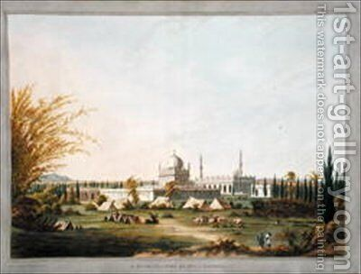 The Mausoleum of Hyder Ali Khan at Laulbaug by (after) Robert H.Colebrooke - Reproduction Oil Painting
