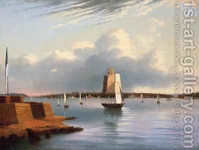 Baltimore Harbour by E. G. Coates - Reproduction Oil Painting