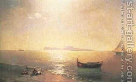Calm on the Mediterranean Sea by Ivan Konstantinovich Aivazovsky - Reproduction Oil Painting