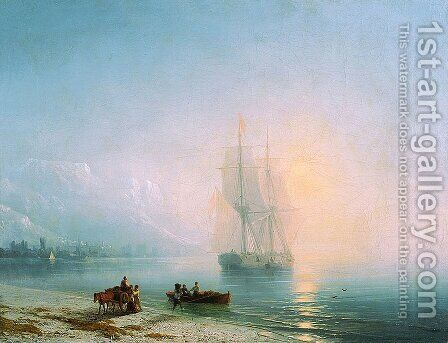 Calm sea by Ivan Konstantinovich Aivazovsky - Reproduction Oil Painting