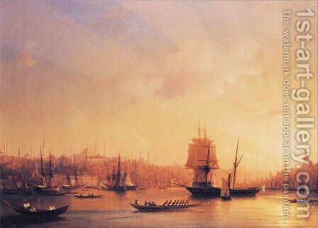 Dusk on the Golden Horn by Ivan Konstantinovich Aivazovsky - Reproduction Oil Painting