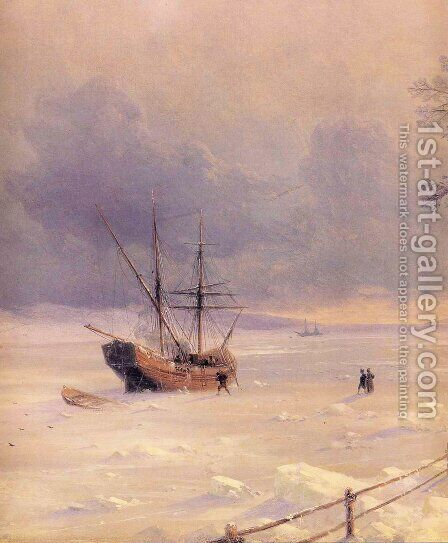 Frozen Bosphorus Under Snow by Ivan Konstantinovich Aivazovsky - Reproduction Oil Painting