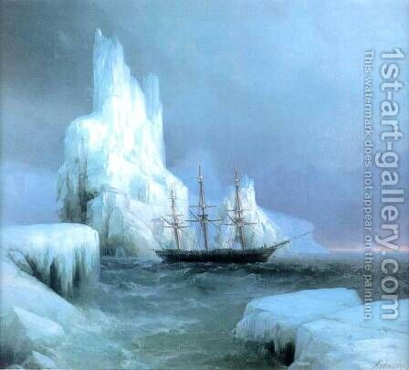 Icebergs by Ivan Konstantinovich Aivazovsky - Reproduction Oil Painting