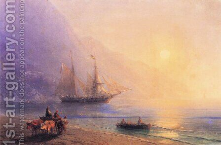 Loading Provisions off the Crimean Coast by Ivan Konstantinovich Aivazovsky - Reproduction Oil Painting