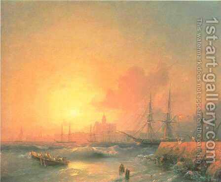 Malaga by Ivan Konstantinovich Aivazovsky - Reproduction Oil Painting