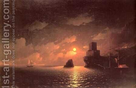 Moonlit Night by Ivan Konstantinovich Aivazovsky - Reproduction Oil Painting
