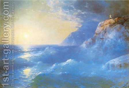 Napoleon on island of St Helen by Ivan Konstantinovich Aivazovsky - Reproduction Oil Painting