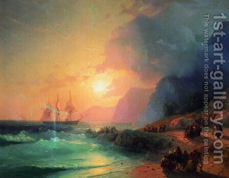 On the Island of Crete by Ivan Konstantinovich Aivazovsky - Reproduction Oil Painting