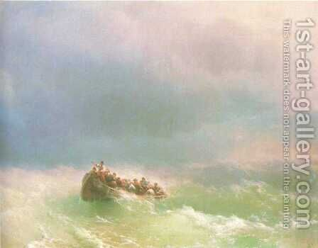 On the storm by Ivan Konstantinovich Aivazovsky - Reproduction Oil Painting