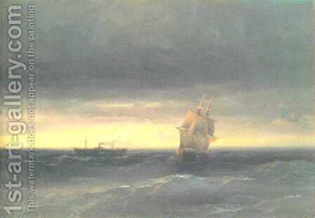 Sea by Ivan Konstantinovich Aivazovsky - Reproduction Oil Painting