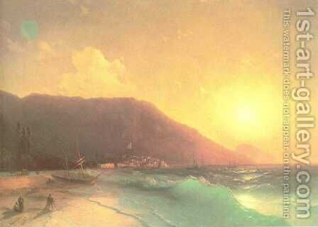Sea view 2 by Ivan Konstantinovich Aivazovsky - Reproduction Oil Painting