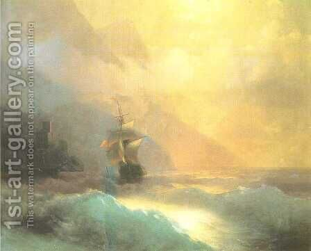 Seascape 3 by Ivan Konstantinovich Aivazovsky - Reproduction Oil Painting