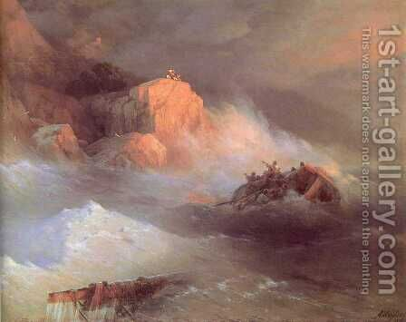 Shipwreck by Ivan Konstantinovich Aivazovsky - Reproduction Oil Painting