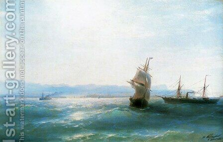 Sunny day by Ivan Konstantinovich Aivazovsky - Reproduction Oil Painting