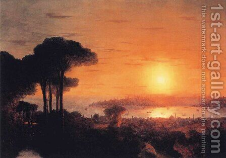Sunset over the Golden Horn by Ivan Konstantinovich Aivazovsky - Reproduction Oil Painting