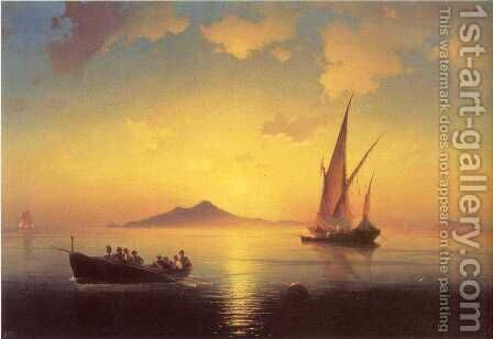The Bay of Naples 2 by Ivan Konstantinovich Aivazovsky - Reproduction Oil Painting