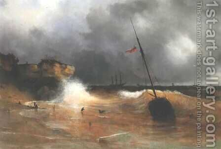 The gale on sea is over by Ivan Konstantinovich Aivazovsky - Reproduction Oil Painting