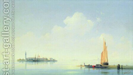 The harbour of Venice, the island of San Georgio by Ivan Konstantinovich Aivazovsky - Reproduction Oil Painting