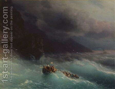 The Shipwreck 1873 by Ivan Konstantinovich Aivazovsky - Reproduction Oil Painting