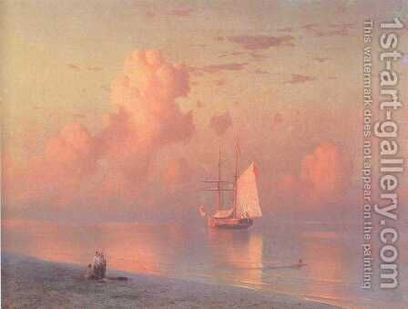 The sunset by Ivan Konstantinovich Aivazovsky - Reproduction Oil Painting