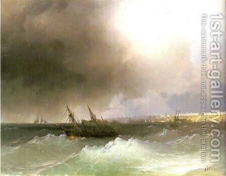 View of Odessa 3 by Ivan Konstantinovich Aivazovsky - Reproduction Oil Painting