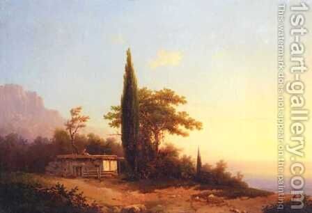 View on Crimea by Ivan Konstantinovich Aivazovsky - Reproduction Oil Painting