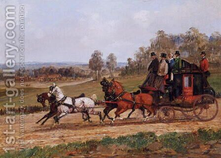 Coaching Scene by Henry Alken - Reproduction Oil Painting