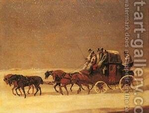 The Derby And London Royal Mail On The Open Road by Henry Alken - Reproduction Oil Painting