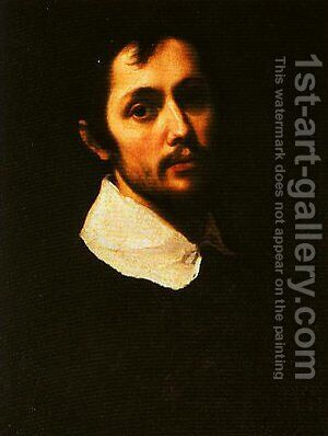 Portrait of a Man in Black by Cristofano Allori - Reproduction Oil Painting