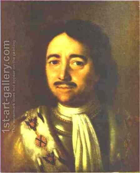 Portrait Of Peter The Great 1772 by Aleksei Antropov - Reproduction Oil Painting
