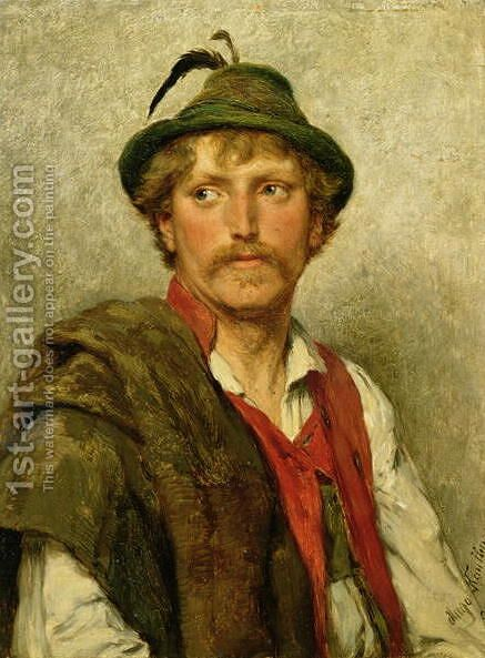 A Peasant by Hugo Kauffmann - Reproduction Oil Painting