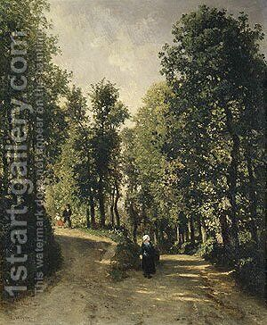 Road in the Woods by Constant Troyon - Reproduction Oil Painting
