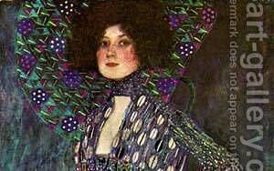 Emilie Floge Detail 1902 by Gustav Klimt - Reproduction Oil Painting