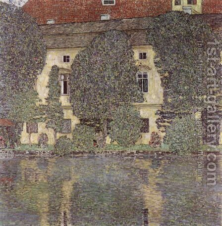 Schloss Kammer on the Attersee 1910 by Gustav Klimt - Reproduction Oil Painting