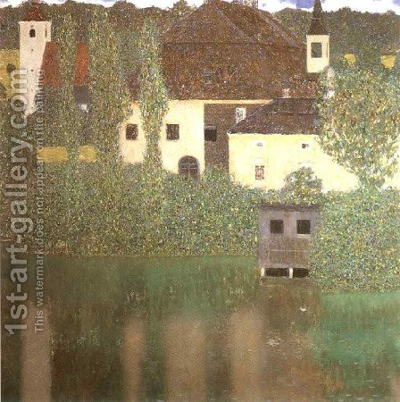 Schloss Kammer on the Attersee I 1910 by Gustav Klimt - Reproduction Oil Painting