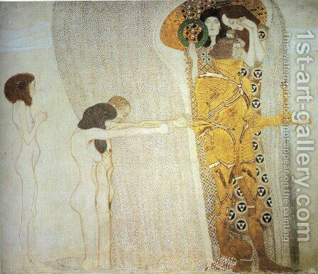 The Bethoven Frieze I 1902 by Gustav Klimt - Reproduction Oil Painting