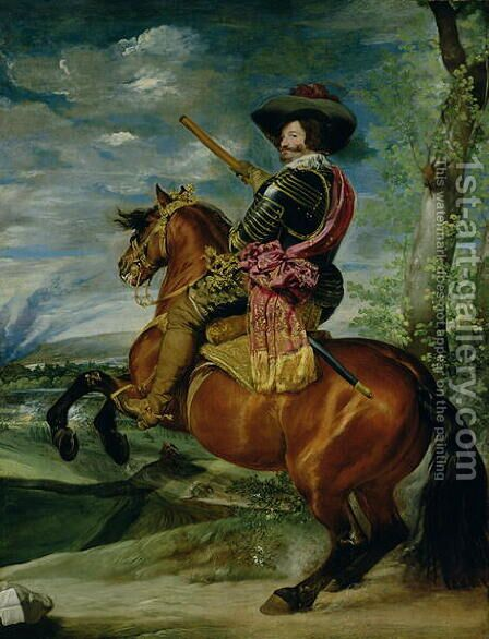 Equestrian Portrait of Don Gaspar de Guzman by Velazquez - Reproduction Oil Painting