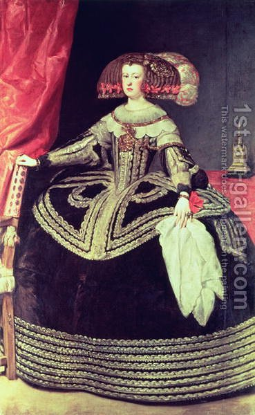 Queen Maria Anna of Spain by Velazquez - Reproduction Oil Painting