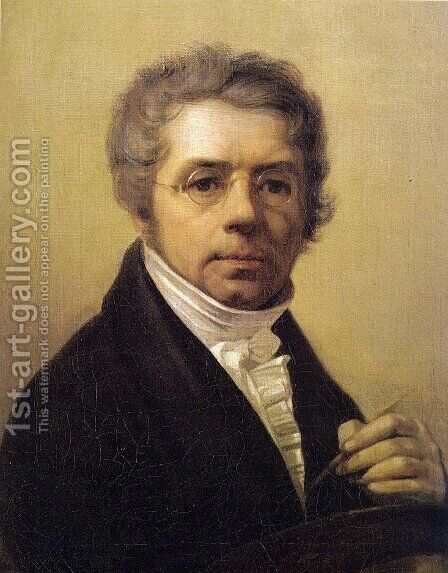 Self Portrait 1811 by Aleksei Gavrilovich Venetsianov - Reproduction Oil Painting