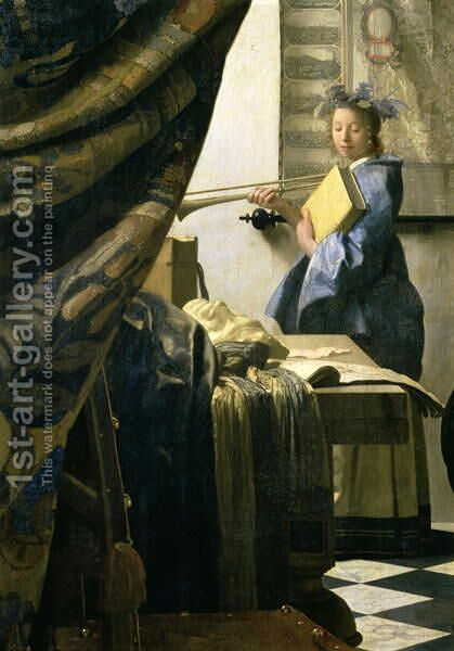 The Artist's Studio 1665 6 by Jan Vermeer Van Delft - Reproduction Oil Painting