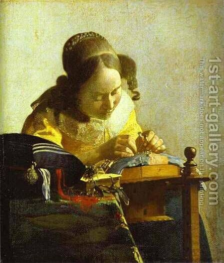 The Guitar Player 1672 by Jan Vermeer Van Delft - Reproduction Oil Painting