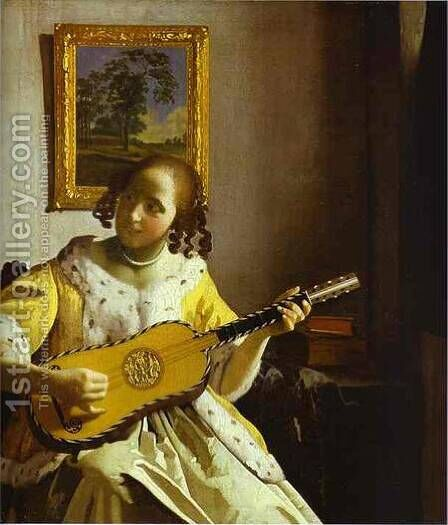 The Lacemaker 1669-1670 by Jan Vermeer Van Delft - Reproduction Oil Painting