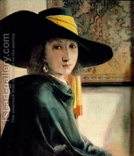 Young Girl in an Antique Costume by Jan Vermeer Van Delft - Reproduction Oil Painting