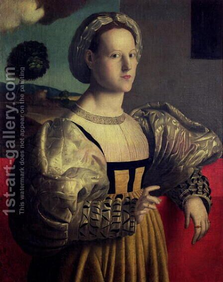 Portrait of a lady 2 by (circle of) Ubertini, (Bacchiacca) - Reproduction Oil Painting
