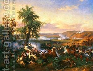 The Battle of Harba by Claude-joseph Vernet - Reproduction Oil Painting