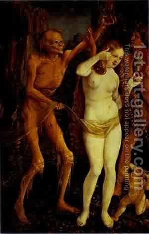 Death And The Maiden 1510 by Hans Baldung  Grien - Reproduction Oil Painting