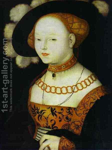 Portrait Of A Lady 1530 by Hans Baldung  Grien - Reproduction Oil Painting